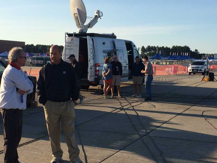 The WMTW News 8 satellite truck is a key part of our live coverage from the Great State of Maine Air Show at Brunswick Landing.