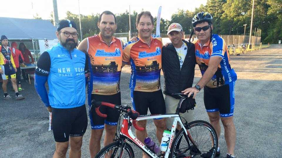 Cyclists prepare for the 100 mile loop of the New England Parkinson's Ride