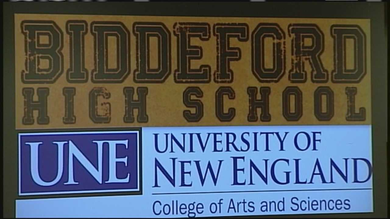 Biddeford High School students will be able to take classes at the University of New England to fulfill freshman-year requirements.