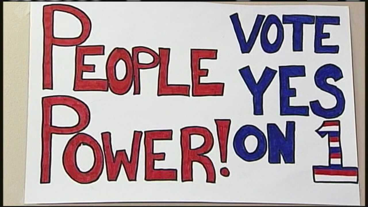 "Volunteers with the Mainers for Accountable Elections, a nonpartisan, grassroots coalition, held a statewide ""Of, By and For the People Day of Action"" on Saturday."