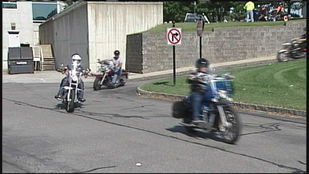 Motorcyclists banded together Saturday to help spread the message about domestic violence awareness.