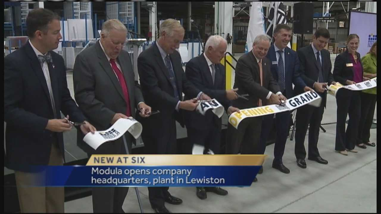 Modula, which manufactures automated storage products, officially opened its headquarters and new manufacturing facility Friday in Lewiston.