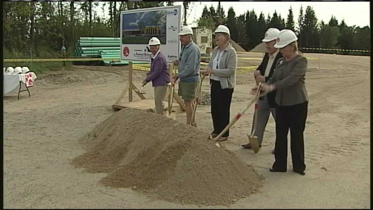 The Animal Refuge League of Portland broke ground Friday on a new facility behind its current one in Westbrook.