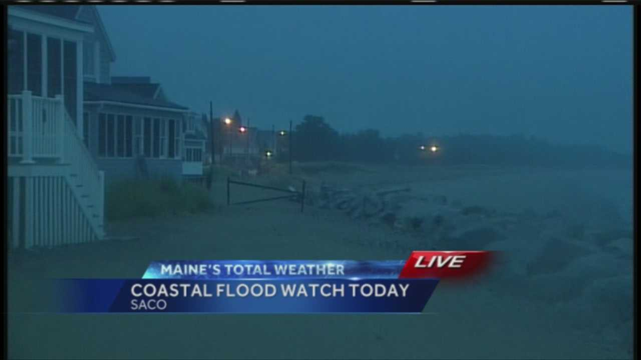 Coastal flood watch takes effect this morning