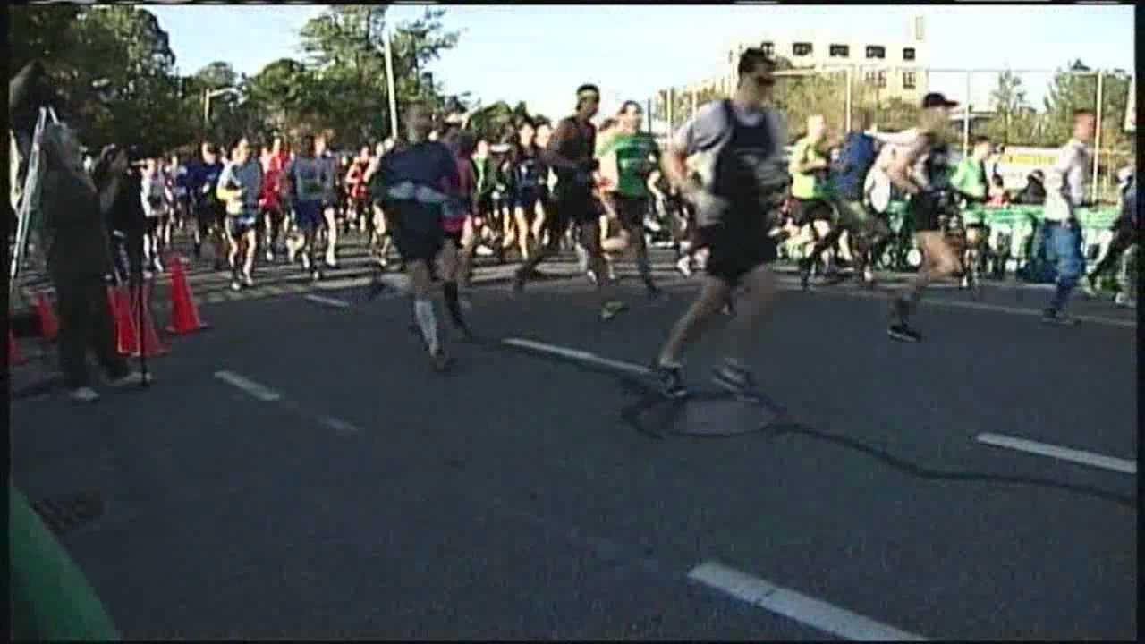 More than 3,000 athletes took off Sunday from Portland's Back Cove for the 24th annual Maine Marathon.