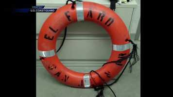 On Saturday, Coast Guard crews recovered a life ring from El Faro.