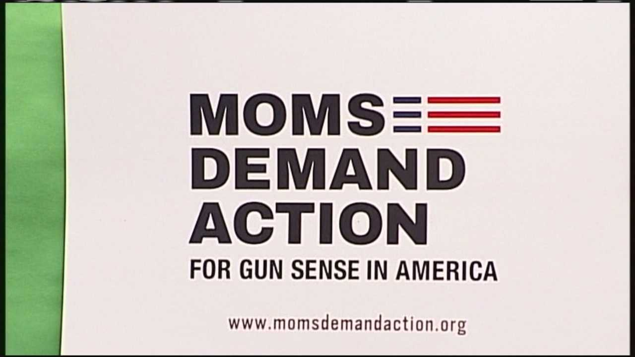 The Maine Moms Demand Action coalition hit the streets Saturday to take the first step to close a loophole in gun sales in Maine.