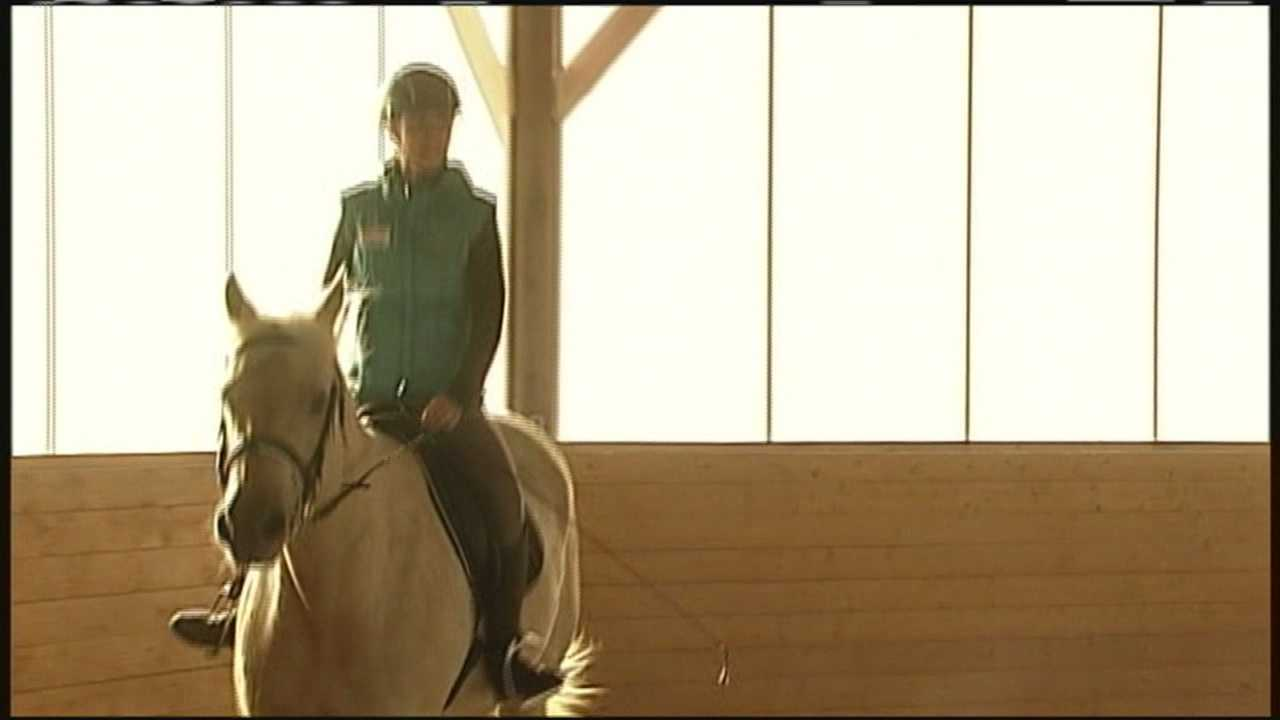 A unique program aims to heal people through therapy horses.