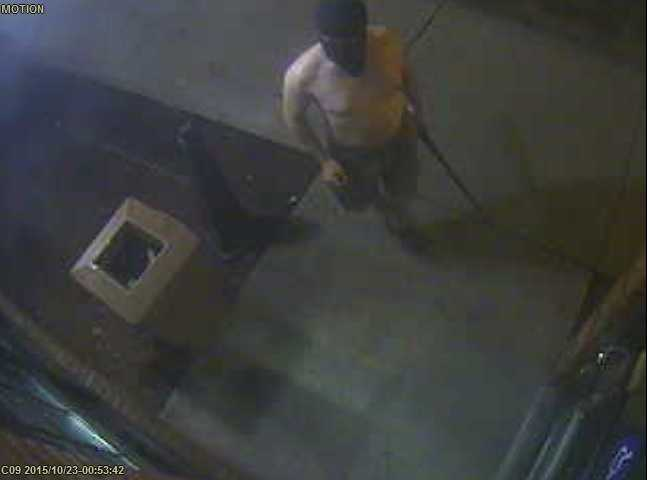 Police are seeking the public's help in identifying a topless, masked man who robbed a McDonald's restaurant in Concord early Friday morning. The following surveillance images were furnished by Concord police.