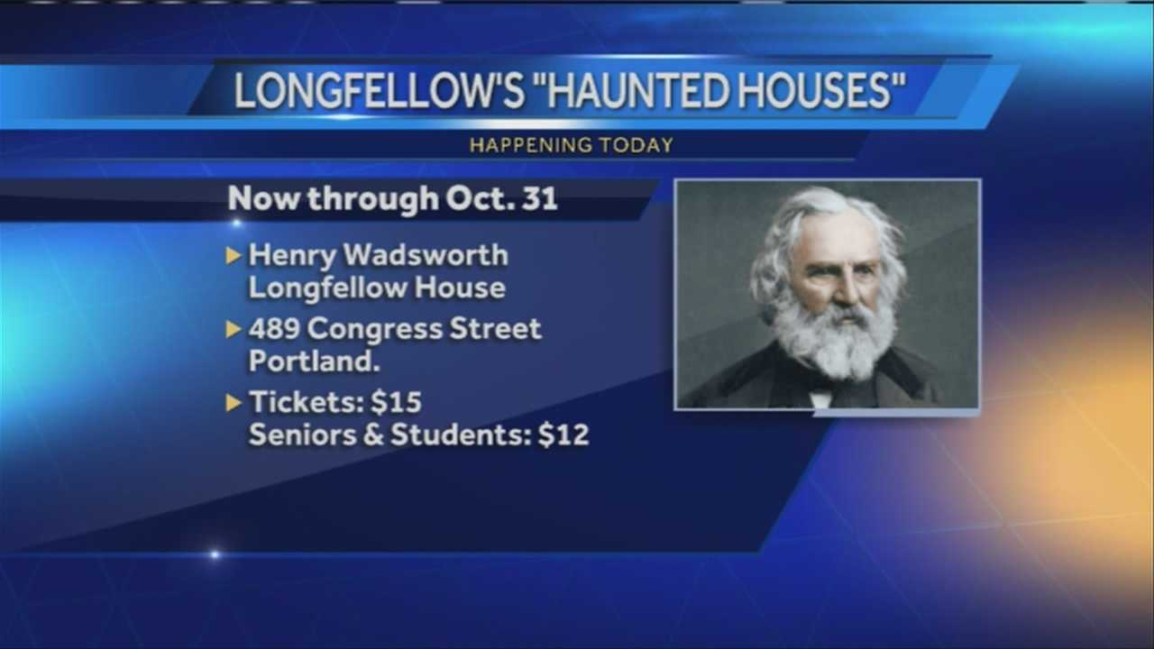 The Maine Historical Society is offering a new tour of the Henry Wadsworth Longfellow House, just in time for Halloween. News 8's Morgan Sturdivanttalks with organizers about this unique tour.