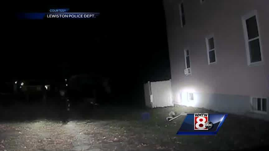 A Lewiston police sergeant has quite the story to tell after rescuing a stuck whose hed was stuck in a glass container.