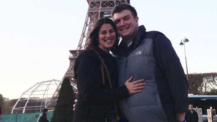 Chris and Aimee Labbe were married in September and embarked on a European honeymoon earlier this month. The couple arrived in Paris just hours before the terrorists struck last Friday.