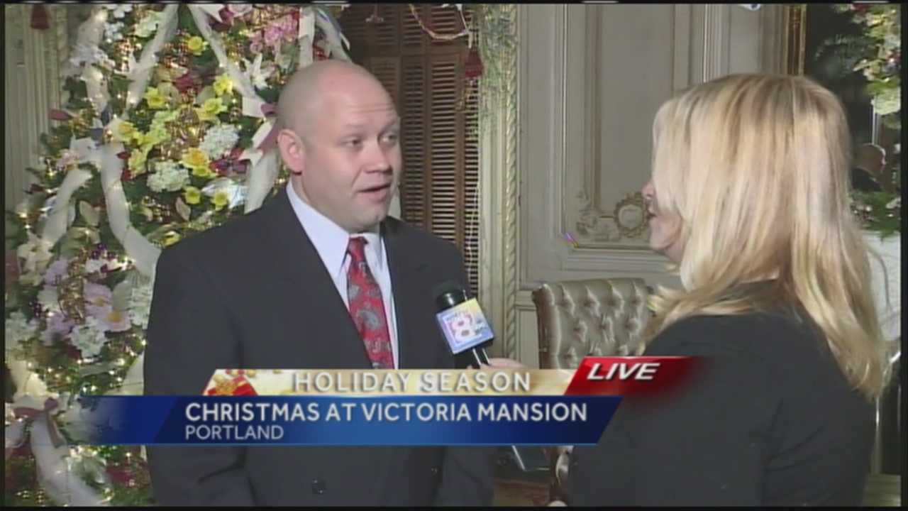 WMTW News 8's Morgan Sturdivant gets a look inside Portland's Victoria Mansion as it is decorated for the holiday season.