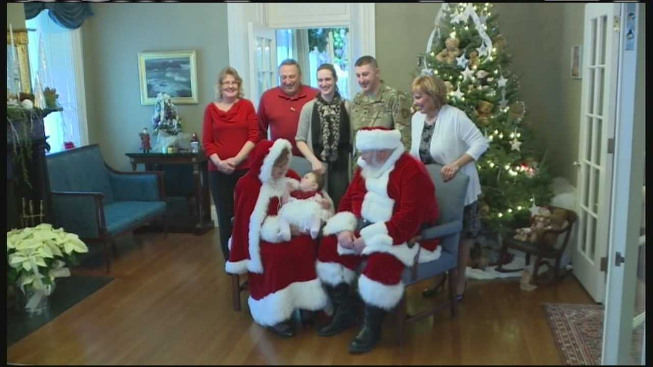 Gov. Paul LePage and first lady Anne LePage hosted a Christmas party Saturday afternoon at the Blaine House for the children of military families.
