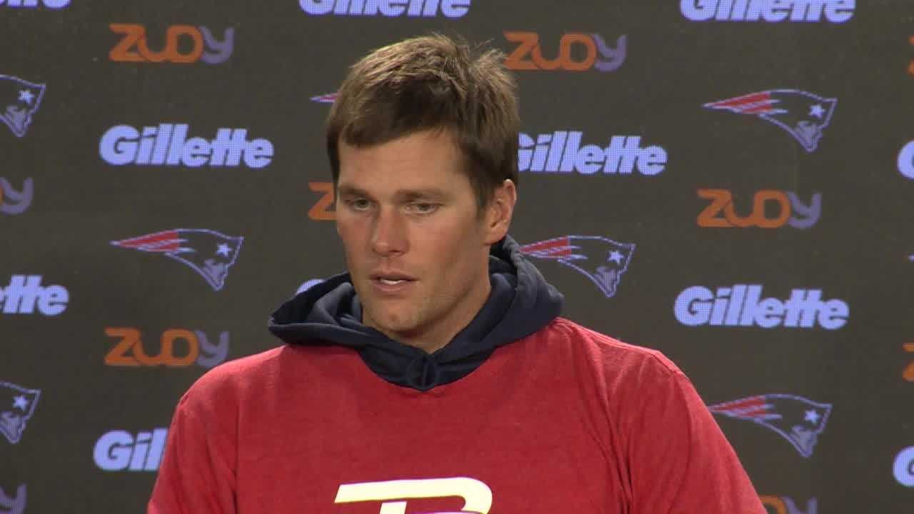 New England Patriots Tom Brady talks about how the team has felt over the past two weeks, with losses to the Denver Broncos and Philadelphia Eagles, and what he thinks it will take to turn it around.