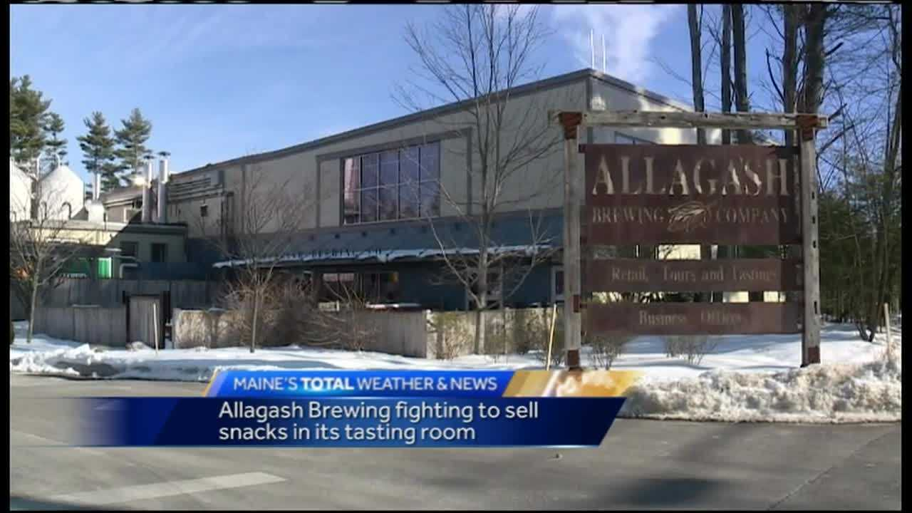 Portland's Allagash Brewing is fighting to sell snacks in its tasting room.