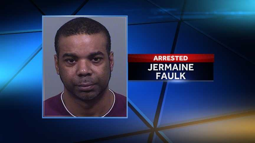 Jermaine Faulk of Yonkers, New York was arrested Friday night in South Portland