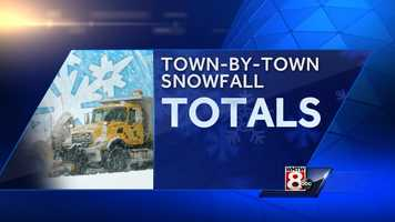 We all woke up to several inches of fresh snow this morning. But who got the most snow from the storm? Check out the town-by-town totals from the National Weather Service. Towns are listed alphabetically.