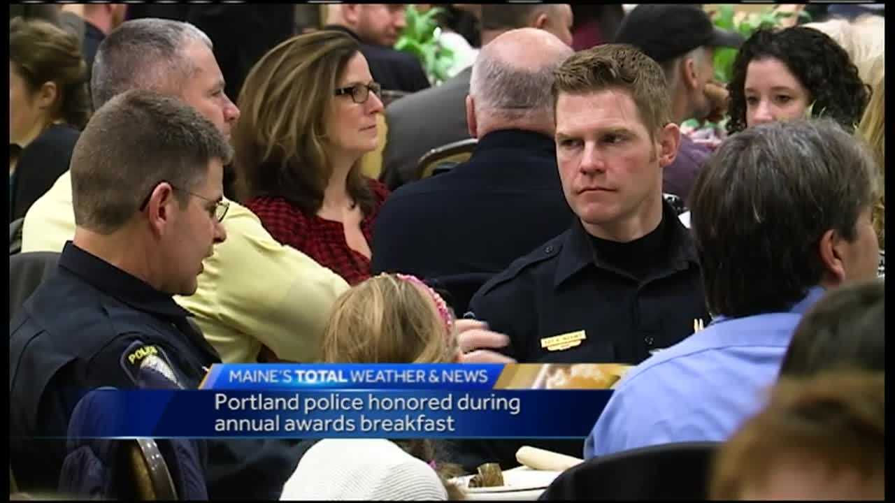 High honors were handed out to first responders in Portland as city leaders, family and friends came together for the annual Portland Police Awards Ceremony Breakfast.