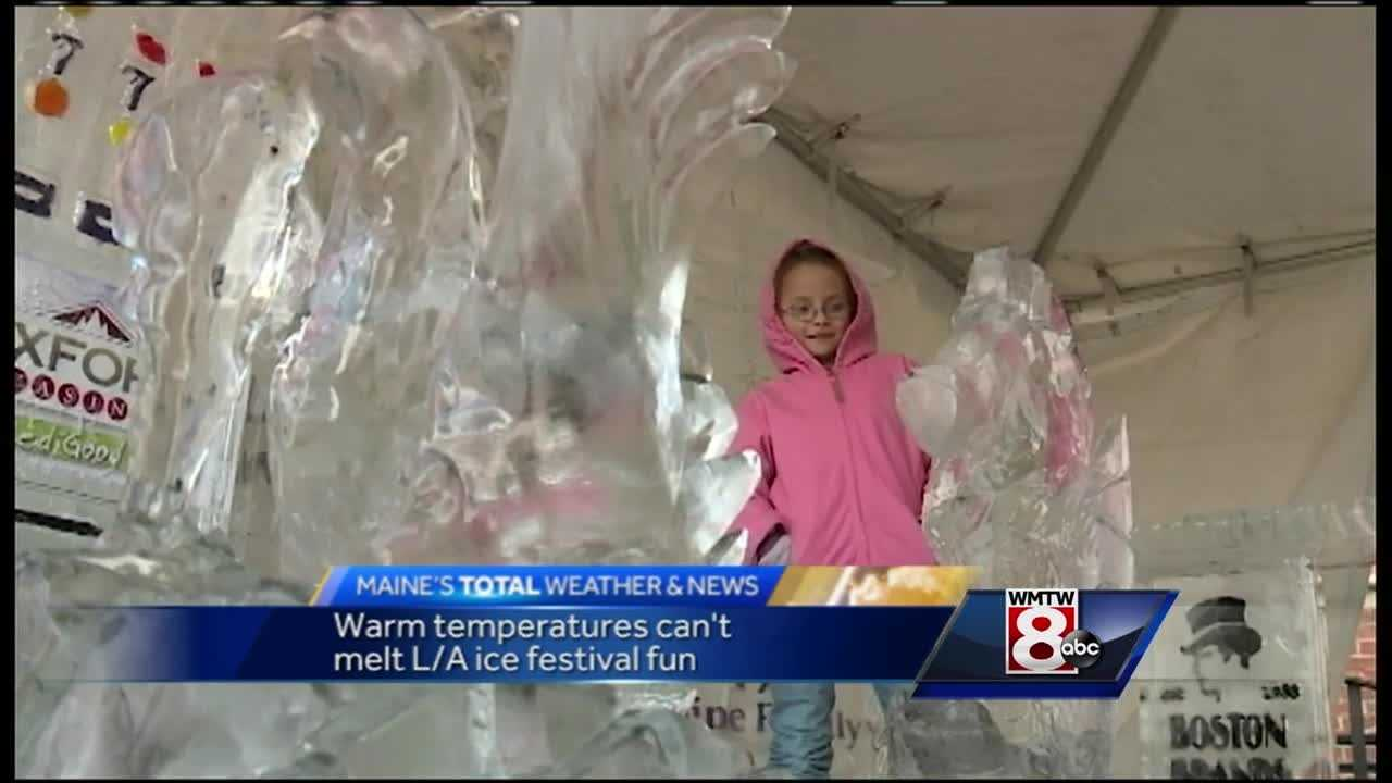 It might not feel like winter but that did not stop hundreds of people from checking out the Ice Festival of Lewiston-Auburn.