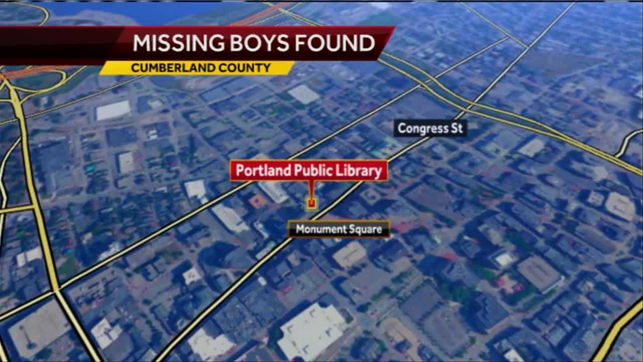 Portland police said two boys reported missing Saturday night have been found with their father.