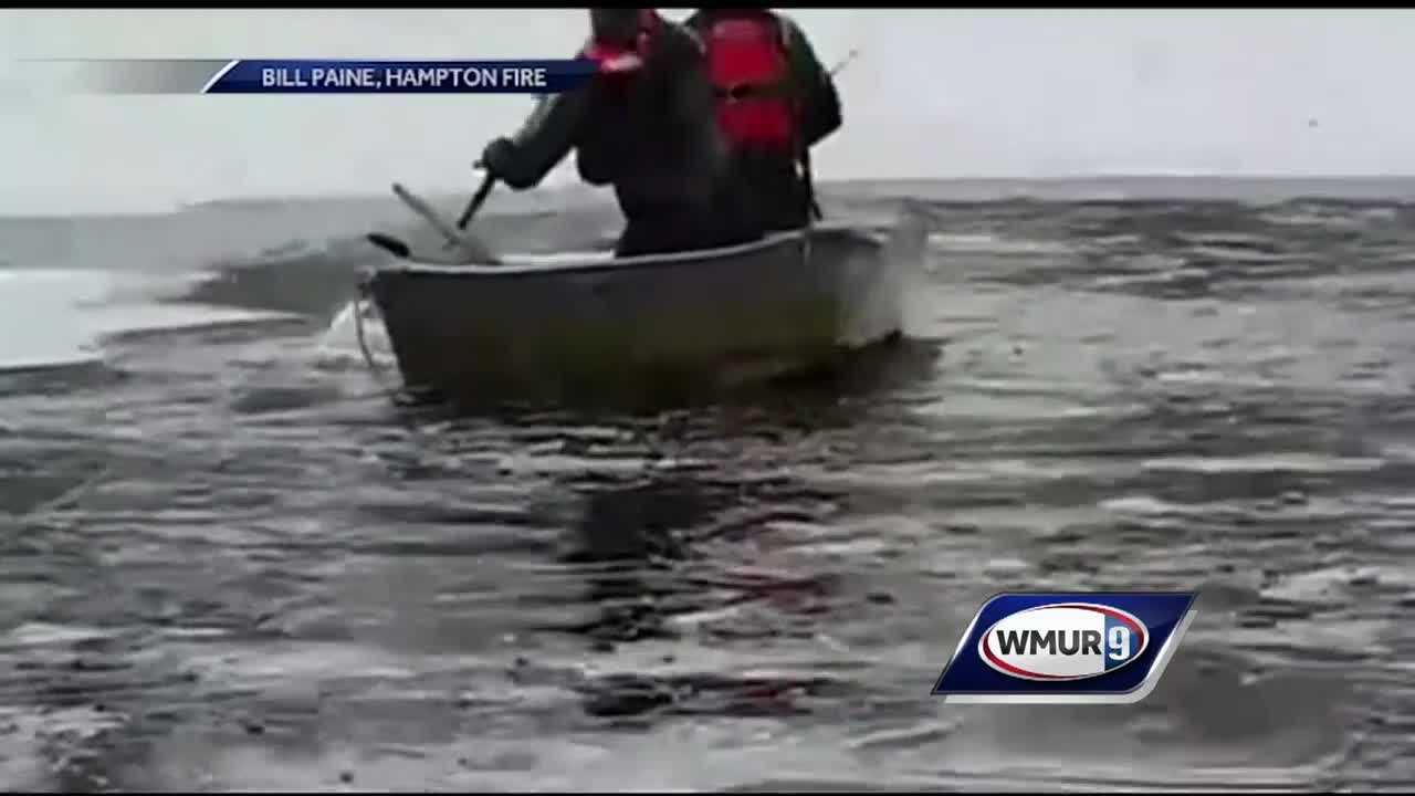 Hampton fire crews rescue dog from frigid water