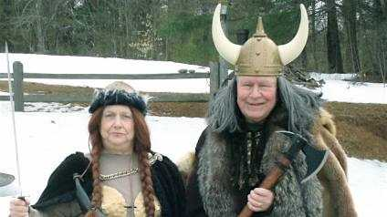 Gary and Judy Getchell in their St. Urho's Day best.