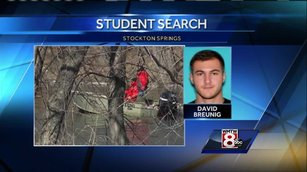 A discovery made Saturday has prompted crews searching for a missing Maine Maritime Academy student to focus on a specific area.