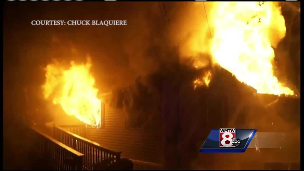 A firefighter was injured battling a house fire in Oxford Wednesday night.