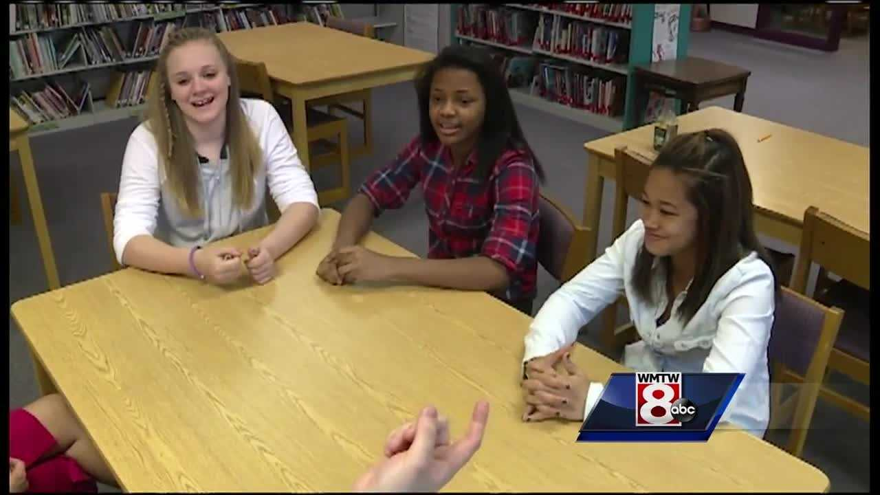 Three Maine middle schools students have taken a school assignment about the state's heroin epidemic to the next level.