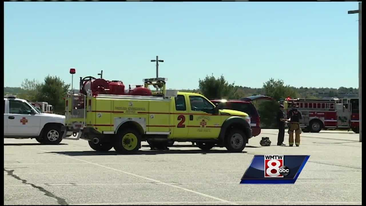 If you see several emergency vehicles at the Portland International Jetport on Saturday, don't panic.