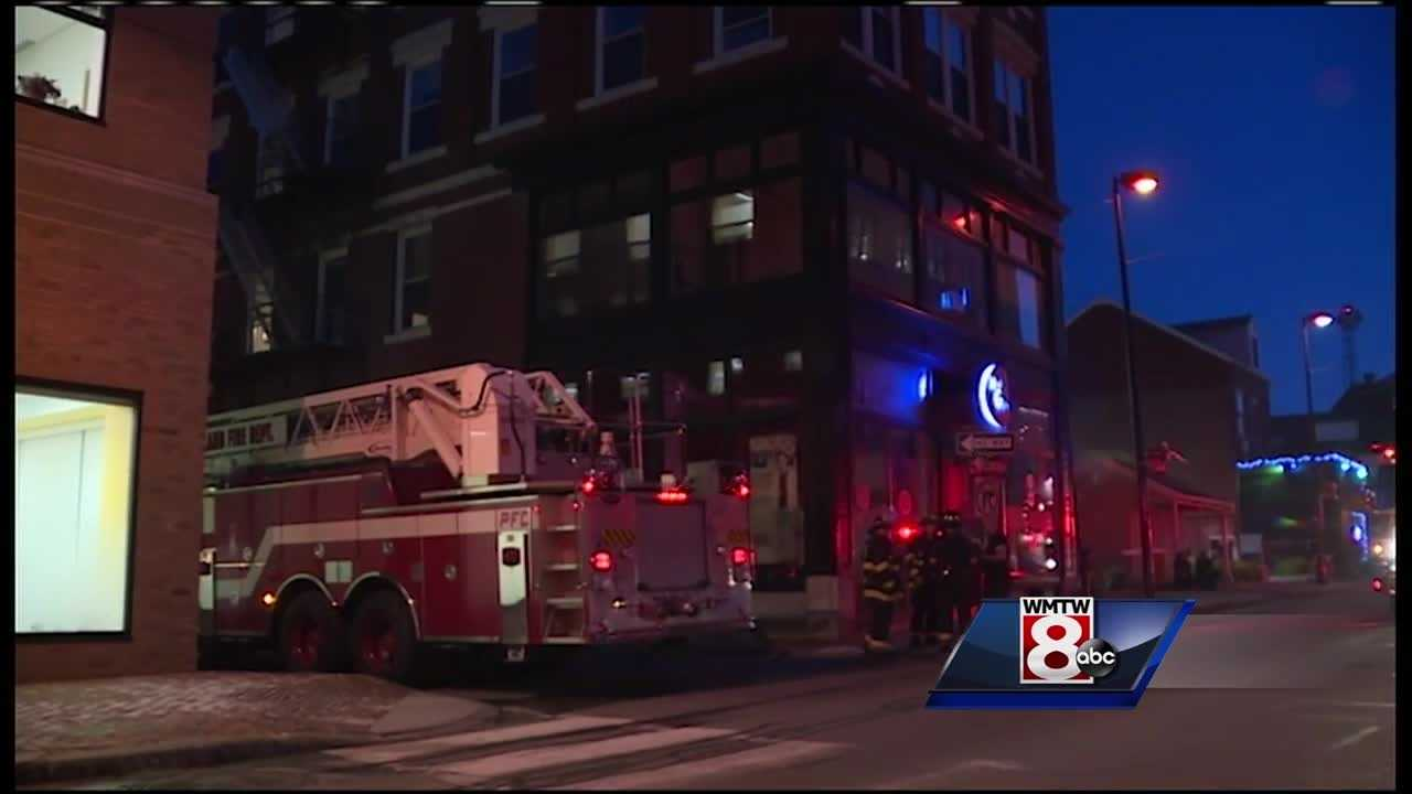 Emergency crews responded Wednesday to a building on the corner of Oak and Free streets in Portland for a small fire.