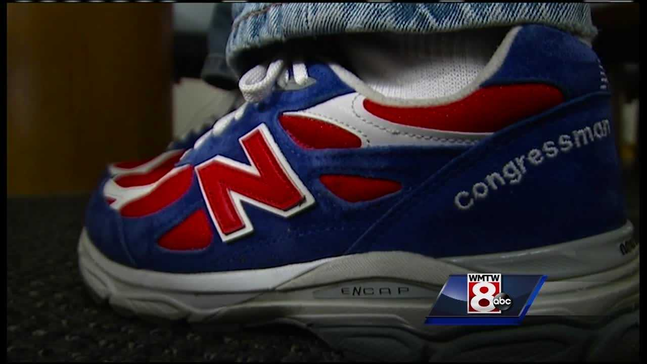 Rep. Bruce Poliquin's plan to force the military to provide American-made sneakers to soldiers will benefit New Balance factories in Maine.