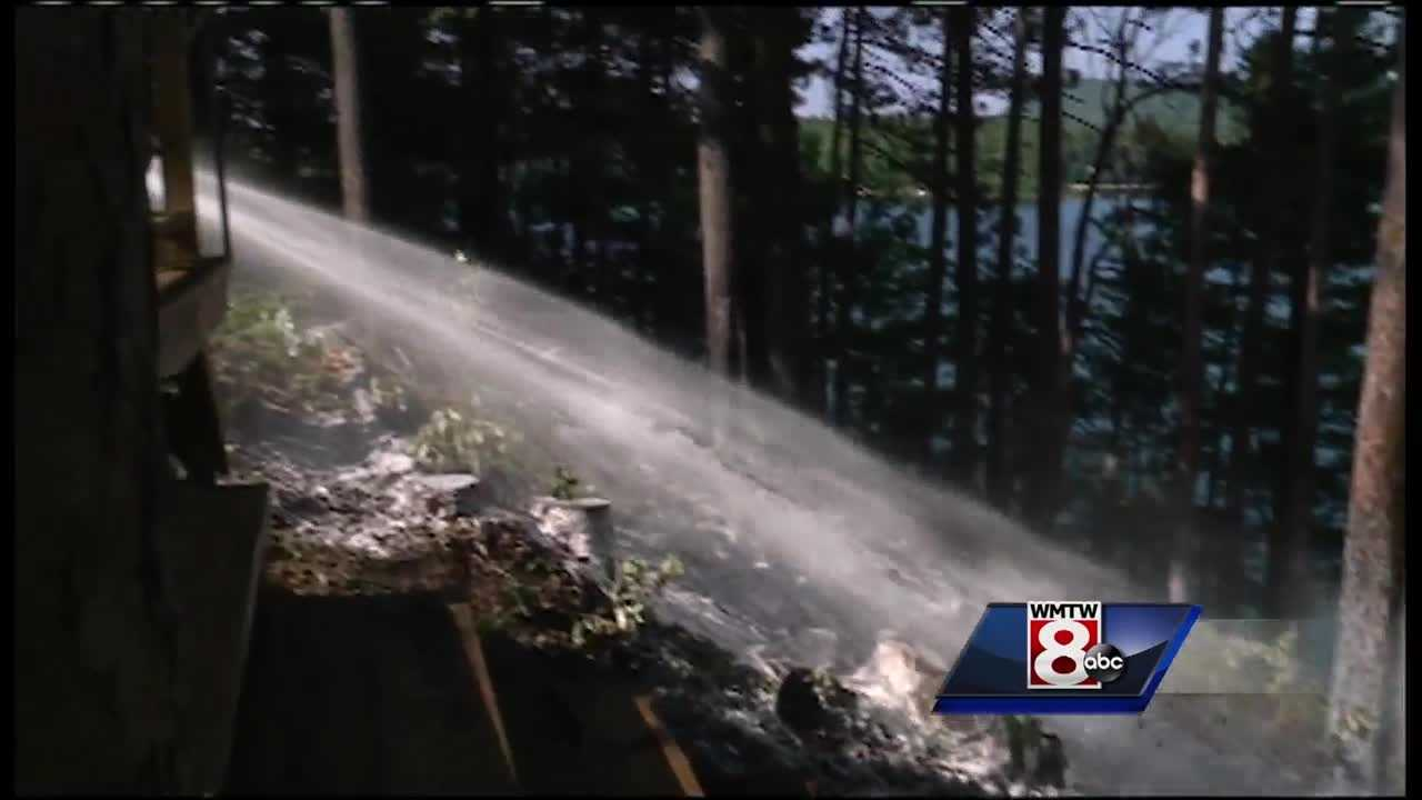Two separate fires in Livermore on Monday were the latest in a series of brush and woods fires throughout Maine in recent weeks.