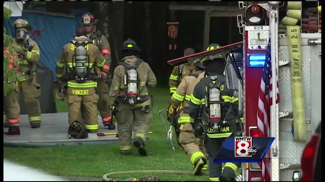 Severe weather Wednesday afternoon down trees and possible sparked a fire. WMTW News 8s' Jim Keithley reports