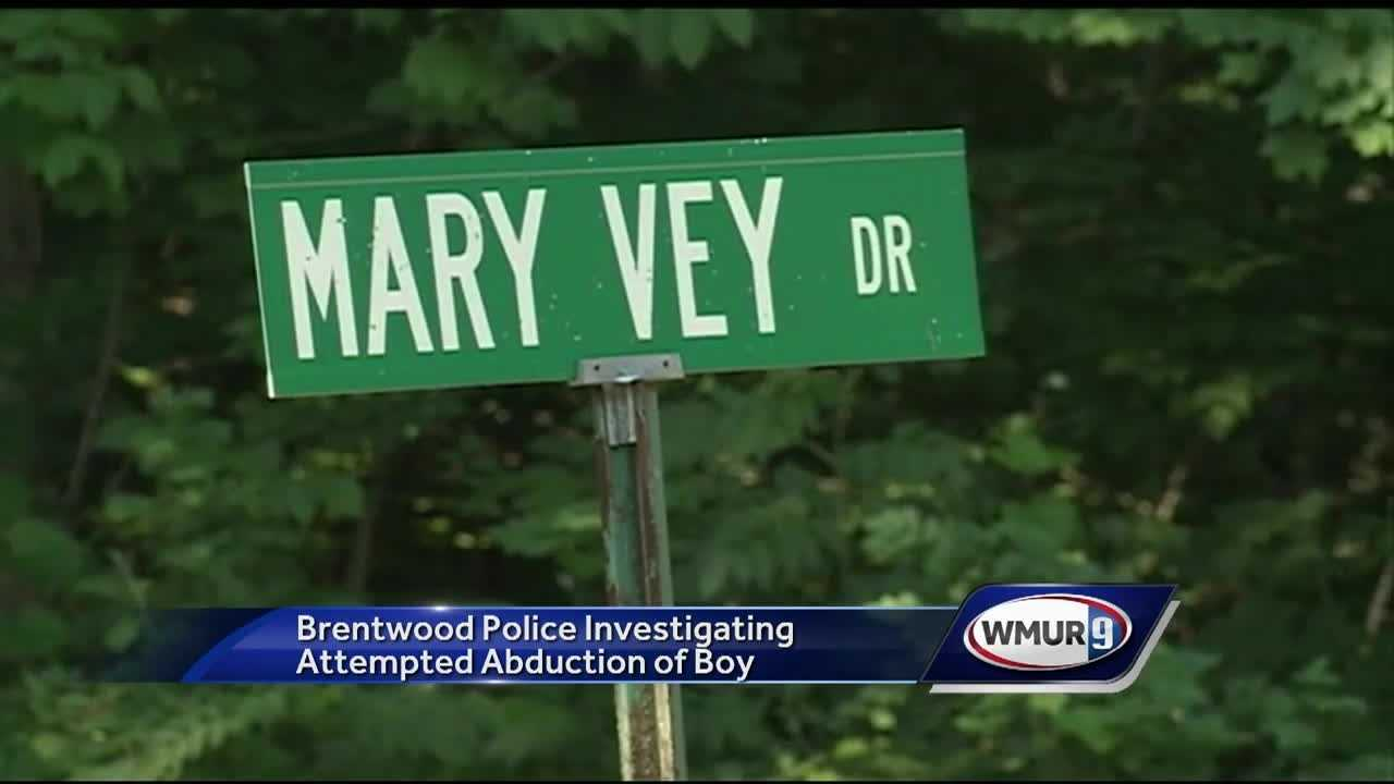 Police in Brentwoood said they are looking for a man who tried to abduct a 10-year-old boy.