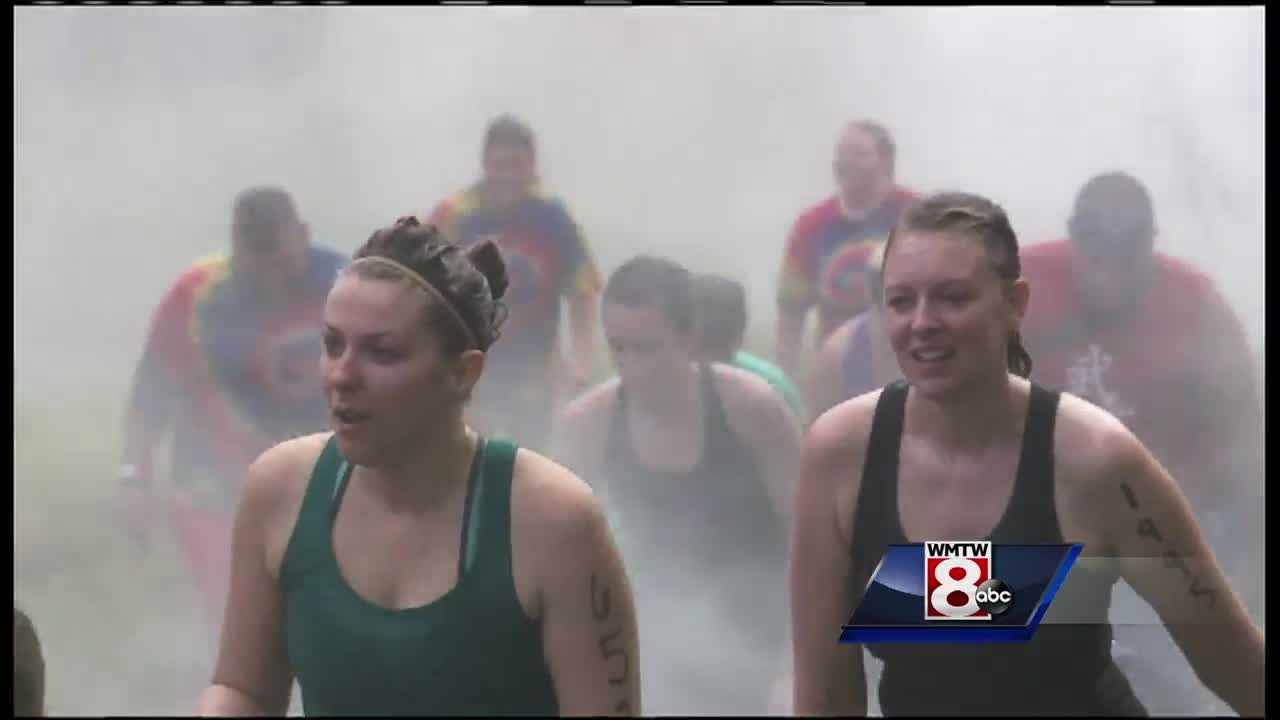 Thousands of runners headed to the Sunday River Resort on Saturday for the Tough Mountain Challenge.