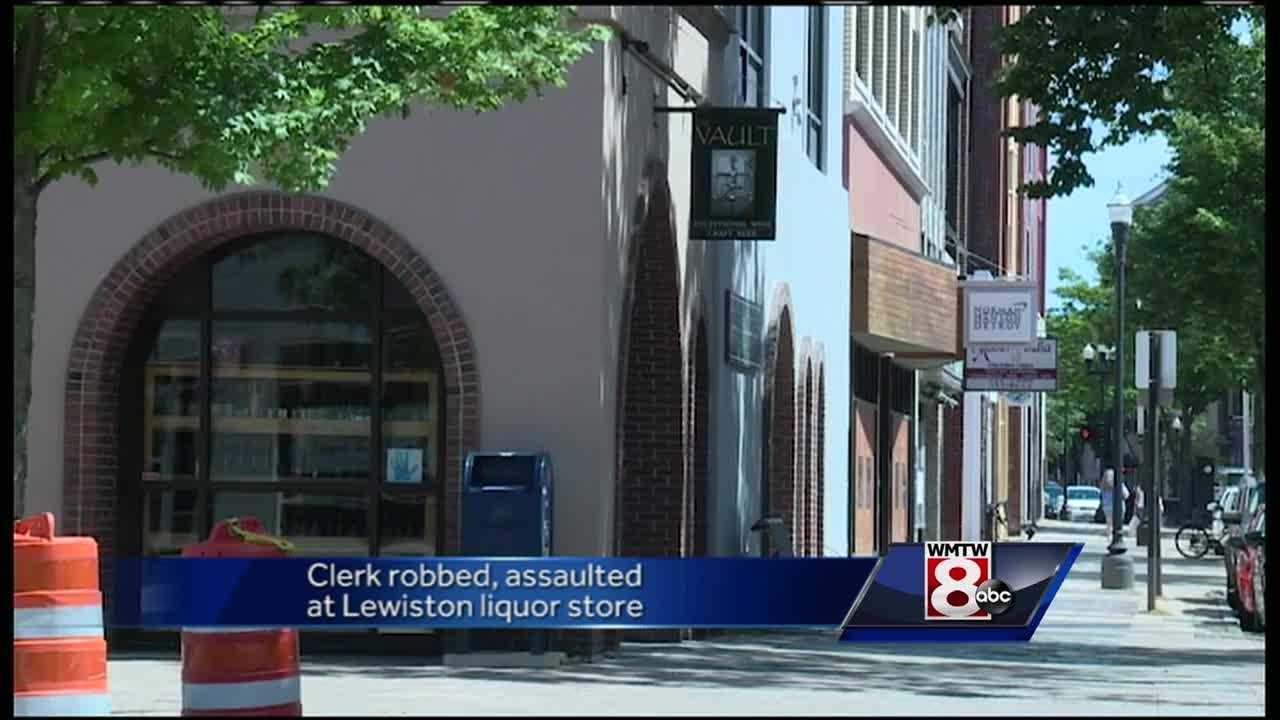 A clerk at a craft beer and wine store is recovering after an assault and robbery Saturday, Lewiston police said.