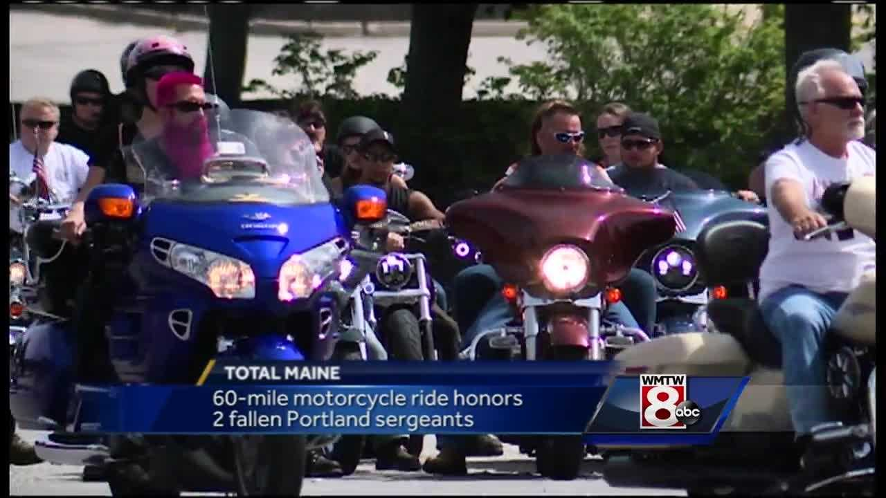 Two Portland police sergeants will be honored Saturday at an annual 60-mile memorial ride through southern Maine.