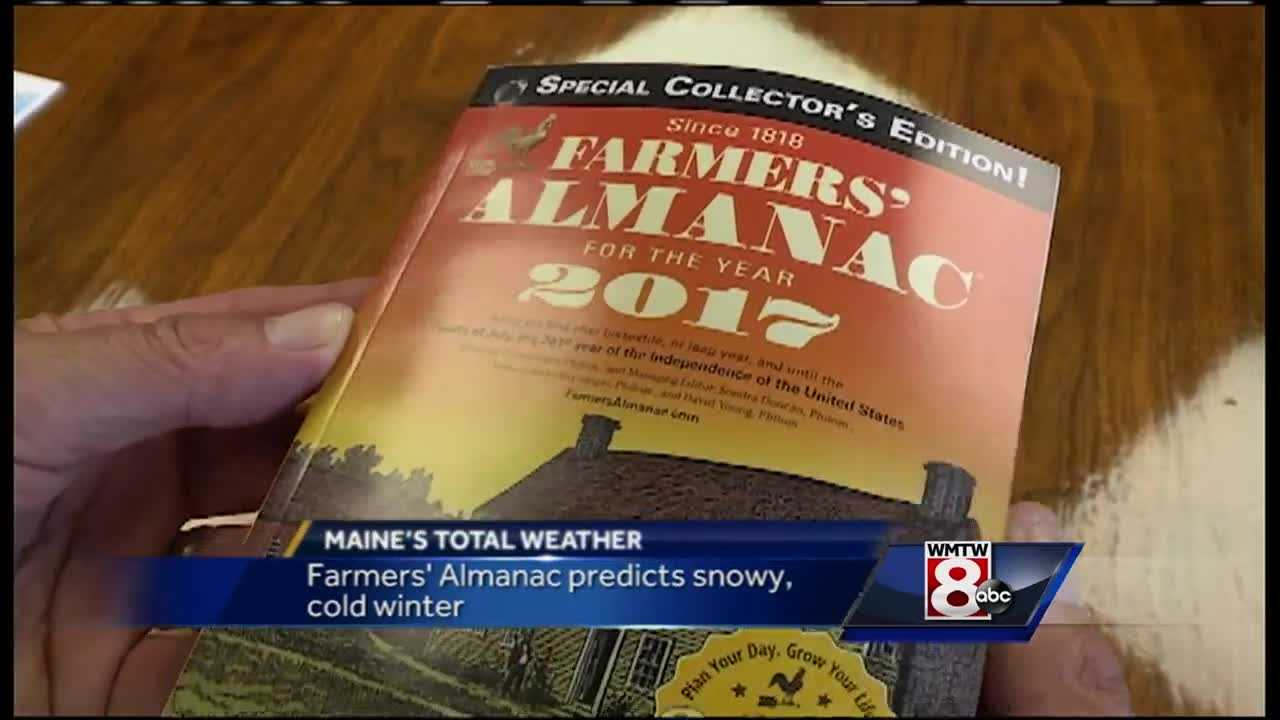 The Farmer's Almanac for 2017 is out and it features some good news for those who are sick of the summer heat and humidity.