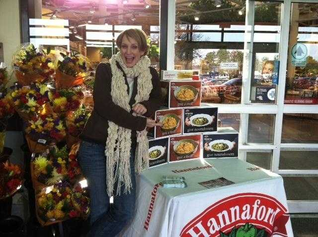 News 8's Shannon Moss at Hannaford on Forest Ave. in Portland.