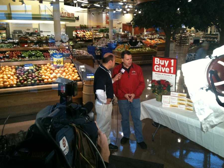 News 8's Norm Karkos live for News 8 This Morning at Hannaford on Forest Ave. in Portland.