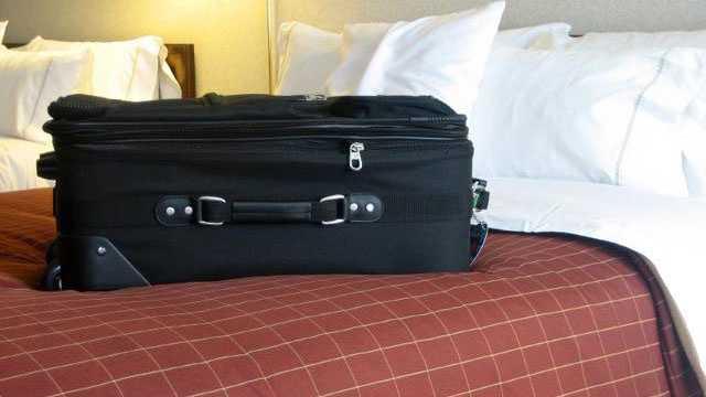 hotel, luggage