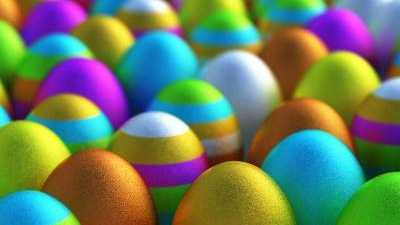 Easter eggs, dyed eggs, colored easter eggs
