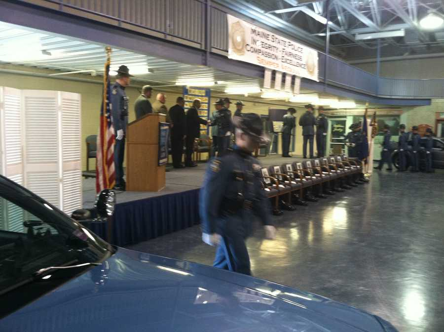 New officers graduated from the state criminal justice academy on Friday.