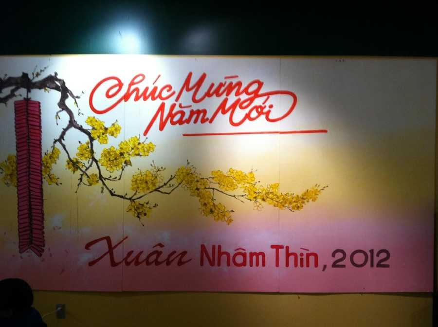 Chuch mungnam moi means Happy New Year in Vietnamese