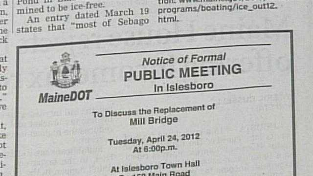 The Maine transportation commissioner is apologizing to the entire town of Isleboro.