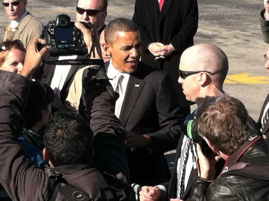 Prior to arriving in Maine, the President was in Vermont.