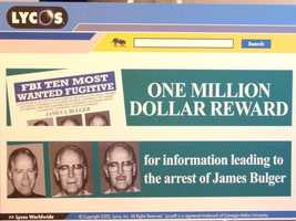Working with federal investigators, Terra Lycos hoped the placing of the posters over their worldwide network would assist in Bulger's capture.