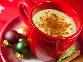 Instead of eight ounces of regular eggnog. . .